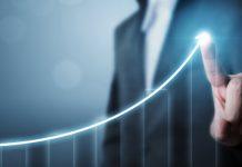 Snelle groei grafiek
