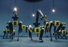 synchroon dansende robots